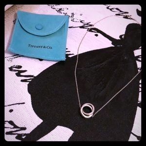 Tiffany double ring necklace